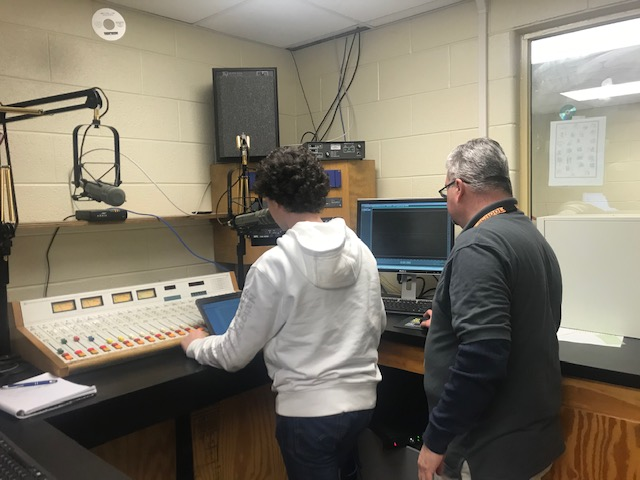 ECE student records PSA with Mr. Blevins